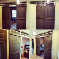 Just finished and installed these overlapping 9' barn doors. Polished steel hardware. #jessbuilds