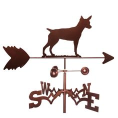 SWEN Products Rat Terrier Weathervane - 1299-ROOF