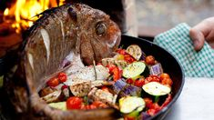 Fast Cooked Snapper with Autumn Vegetables - Chef Recipe by Russell Jeavons Meat Sauce Recipes, Roast Recipes, Chef Recipes, Fish Recipes, Italian Recipes, Cooking Recipes, Cooking Roast In Oven, Cooking Fish, Best Roast Recipe