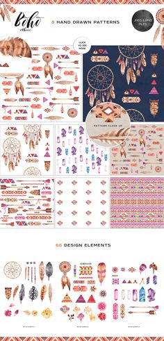 SUPER pretty boho graphic patterns!
