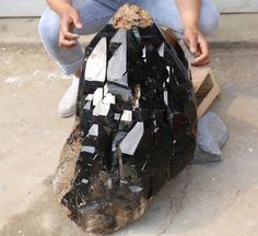 352lb Natural Beautiful Black skeletal Elestial QUARTZ Crystal Mineral Specimen