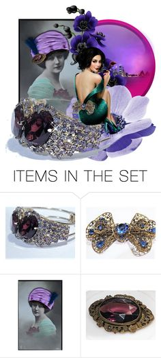 """""""Violaceous"""" by pattysporcelainetc ❤ liked on Polyvore featuring art, vintage and country"""