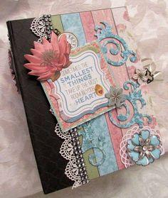 TPHH Handmade Chipboard Scrapbook Mini Album Bo Bunny Garden Journal SWAK #BoBunny