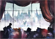 Breakfast in Moscow by Thomas W. Schaller ~ 14 inches x 22 inches