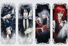 Black Butler ~~ Ciel, Sebastian, Undertaker & Grell