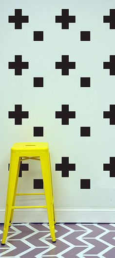 Blocks & Crosses  WALL DECAL by TheLovelyWall on Etsy, $22.00
