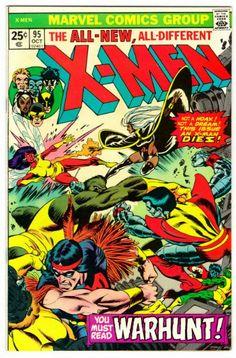 Uncanny X-Men #95 (October 1975)… The death of an X-Man… Thunderbird I bites the big one… RIP
