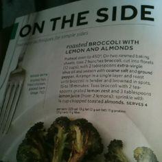 Broccoli almonds and lemon
