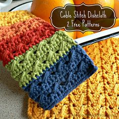 Ravelry: Cable Stitch Dishcloths pattern by Dedri Uys