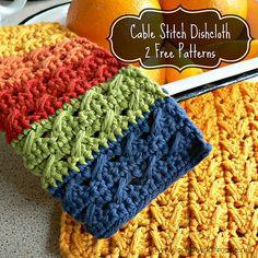 Ravelry: Cable Stitch Dishcloths pattern by Dedri Uys