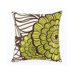 Jungle Bloom Embroidered Pillow in Green design by Trina Turk ($121) ❤ liked on Polyvore featuring home, home decor, throw pillows, flower home decor, green throw pillows, embroidered throw pillows, green accent pillows and green toss pillows