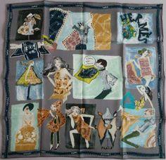 J Aime Mon Carre -Hermes Scarf Vintage Silk 70cm