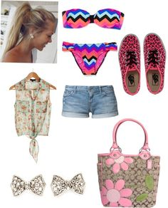 """""""a day at the beach"""" by nicole-terceira ❤ liked on Polyvore"""