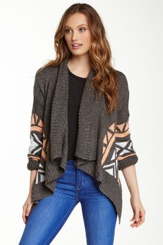 eced80f6984e Aztec Print Wrap Cardigan by Romeo   Juliet Couture on  nordstrom rack  Aztec Cardigan