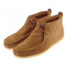 Clarks Originals Wallabee Soft Shoes Cognac Suede