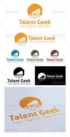 Talent Geek Logo Template — Photoshop PSD #world #tutorial • Available here → https://graphicriver.net/item/talent-geek-logo-template/4027513?ref=pxcr