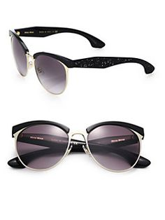 Miu Miu - Oversized 56MM Round Sunglasses