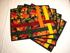 Like the placemat design. I love leaf fabric