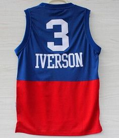 bde32d27295 Hight Quality Free Shipping Retro  3 Allen Iverson Basketball Jersey  Throwback Jerseys Embroidery Logo Mesh Black White Blue-019