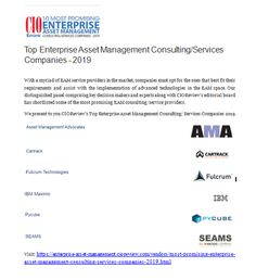 Top Enterprise Asset Management Consulting/Services Companies Consulting Firms, Asset Management, Finance, Technology, Marketing, Top, Tech, Tecnologia, Economics