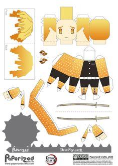 Anime Diys, Anime Crafts, Instruções Origami, Paper Crafts Origami, Otaku Anime, Anime Art, Figurine Anime, Paper Doll Template, Anime Stickers