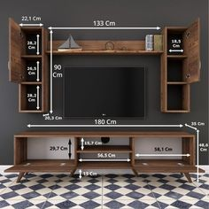Tv Unit Interior Design, Tv Unit Furniture Design, Tv Furniture, Modern Tv Room, Modern Tv Wall Units, Modern Tv Cabinet, Modern Living, Tv Unit Decor, Tv Wall Decor