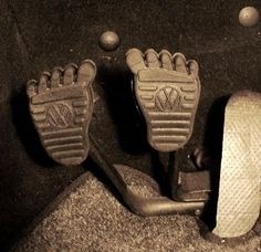 Pedales personalizados para el VW Beetle