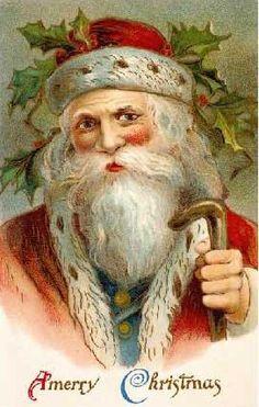Santa+pictures+vintage | Vintage Santa Art Print at Barewalls.com
