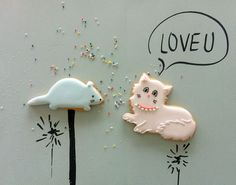 cat & mouse cookie