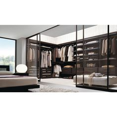luxury walk in closets ❤ liked on Polyvore featuring house, home, closet, rooms and pictures