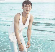 Chen - 160922 Second official photobook 'Dear Happiness' - [SCAN][HQ] Credit: Serendipity EXO. Exo Dear Happiness, Beach Date, Chanyeol Baekhyun, Exo Official, Wattpad, Xiuchen, Kim Minseok, Kpop Exo, Bias Kpop