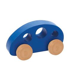 Mini Van Blue From Hape from The Wooden Toybox