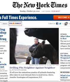 NY Times: Drilling Pits Neighbor Against Neighbor. Photos by MFR