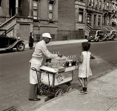 Ices- 2, 3, 5 cents..    Jack Allison. New York. Summer 1938  #pohotography