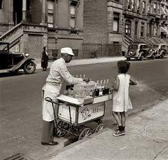 Ices- 2, 3, 5 cents..  Jack Allison. New York. Summer 1938