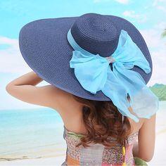 24e031b7 US $11.39  2017 Straw Hats For Women's Female Summer Ladies Wide Brim Beach  Hats Sexy Chapeau Large Floppy Sun Caps New Brand Spring Praia-in Women's  Sun ...