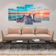 'Forgotten Marina' Graphic Art Print Multi-Piece Image on Glass Ebern Designs Size: H x W Canvas Art, Canvas Prints, Framed Prints, Kandinsky Art, Painting Prints, Art Prints, Glass Printing, Wall Hooks, Urban Design