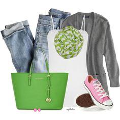 Green Chevron Skirt :)