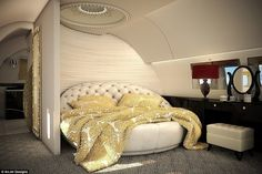 fabrics are an easy way to inject some glamour into a private jet and create a m.Luxurious fabrics are an easy way to inject some glamour into a private jet and create a m. Luxury Jets, Luxury Private Jets, Private Plane, Luxury Yachts, Private Jet Interior, Yacht Interior, Luxury Interior, Interior Design, Luxury Helicopter