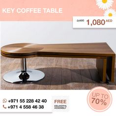 Contemporary Key coffee table with brushed metal accent. Modern design brushed metal accent durable construction. It will never get You bored! Hurry up, discount 70%! More details here: http://gtfshop.com/key-coffee-table?page=2  All items up to 80% OFF are in our outlet here: http://gtfshop.com/outlet  #gtf #gtfshop #discount #uae #sale #sofas #sofasets #cornersofas #bedroomsets #loveDubai‬ ‪#Homedecor‬ ‪#design‬ ‪#designideas‬ ‪#GTFShop‬ ‪#globaltradefurniture‬ ‪#decortips‬ ‪#UAE‬…