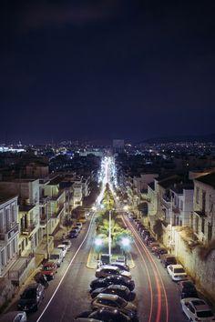 Piraeus by night, Athens, Greece