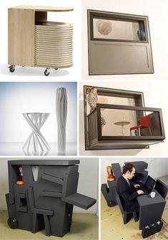 Love the compact desk! Found on WebUrbanist.com