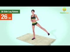 30 Side Leg Raises Challenge [Legs, Hips and Glutes] - YouTube