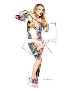 Check out these Sexy Tattooed Women. #inkedmag #inked #angel #tattooed #model #inkedgirls #sexy