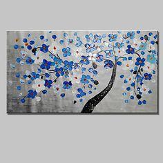 Peint+à+la+main+Abstrait+/+Bande+dessinée+/+A+fleurs/BotaniqueModern+Un+Panneau+Toile+Peinture+à+l'huile+Hang-peint+For+Décoration+–+EUR+€+64.11