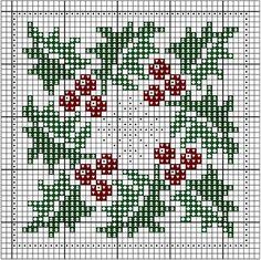 snowflake holly & ivy cross stitch