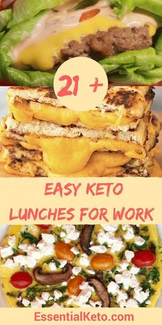 21+ Easy Keto Lunches for Work - low carb, gluten free & sugar free. Lots of healthy recipes that are packable too!