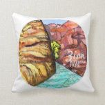 Zion National Park Watercolor Painting Colorful Throw Pillow camping decoration, gifts for outdoors, affordable gifts Hiking Gifts, Camping Gifts, Camping Tricks, Camping Gadgets, Camping Tools, Camping Checklist, Mothers Day Gifts From Daughter, Unique Mothers Day Gifts, Colorful Throw Pillows