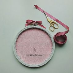 Baby announcement embroidery hoop. Finishing by Pipi and Toto