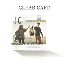 Crafted Joy - Clear #Holiday Cards by Hello Little One in Gilded Brown